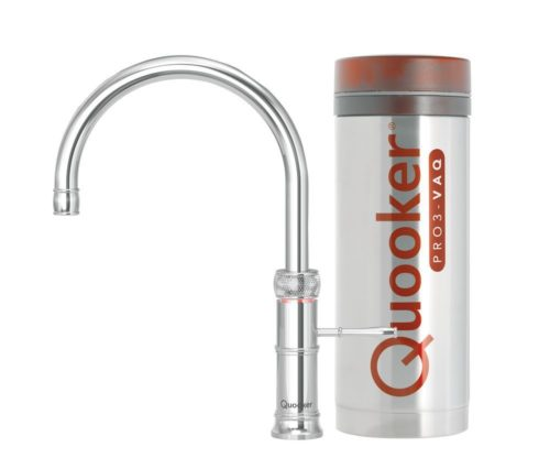 Quooker Classic Fusion Round Chroom + Pro3 reservoir